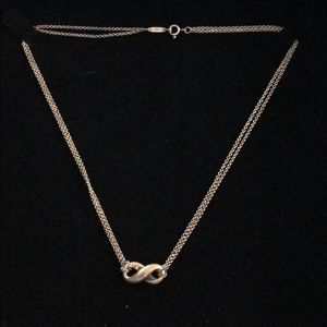 Jewelry - Authentic Tiffany Infinity Pendant Sterling Silver
